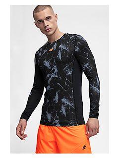Pánske tréningové tričko s dlhým rukávom TSMLF250 - čierna allover