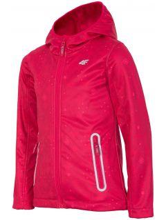 Softshellová bunda pre staršie dievčatá JSFD400 – červená