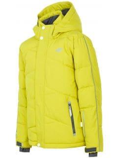 Lyžiarska bunda pre staršie deti (chlapcov) JKUMN400 – zelená