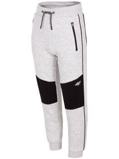 Teplákové nohavice pre staršie deti (chlapcov) JSPMD205 – šedá