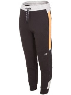 Teplákové nohavice pre staršie deti (chlapcov) JSPMD207 - čierna