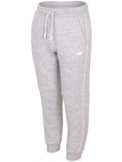Teplákové nohavice pre staršie deti (chlapcov) JSPMD211A - svetlošedá melanž