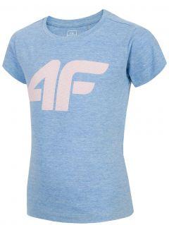 Tričko pre mladšie deti (dievčatá) JTSD101 - modrá melanž