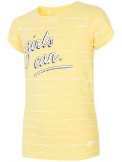 Tričko pre staršie deti (dievčatá) JTSD202A – žltá