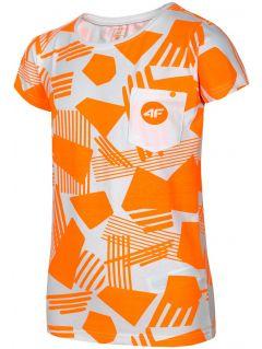 Tričko pre staršie deti (dievčatá) JTSD207A – neónová oranžová