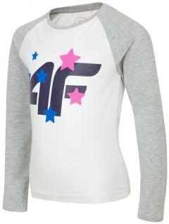 Tričko s dlhým rukávom pre mladšie deti (dievčatá) JTSDL102 – biela