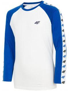 Tričko s dlhým rukávom pre staršie deti (chlapcov) JTSML218 – kobaltová modrá