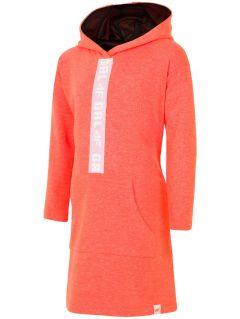 Športové šaty pre staršie deti (dievčatá) JSUDD203 - neónová oranžová
