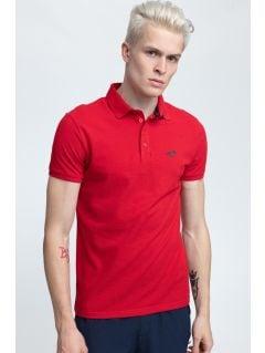 Pánske polo tričko TSM024 - tmavočervená