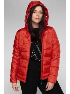 87f3f342d0 Dámska bunda so syntetickou výplňou KUDP202 – červená