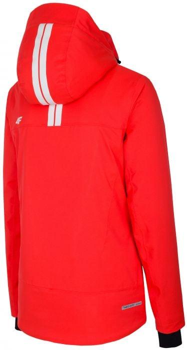 Dámska lyžiarska bunda KUDN251A - neónová červená b743d5118bc