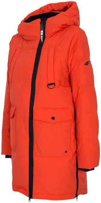 Dámska bunda so syntetickou výplňou KUDP216 – červená 1f000d5c4df