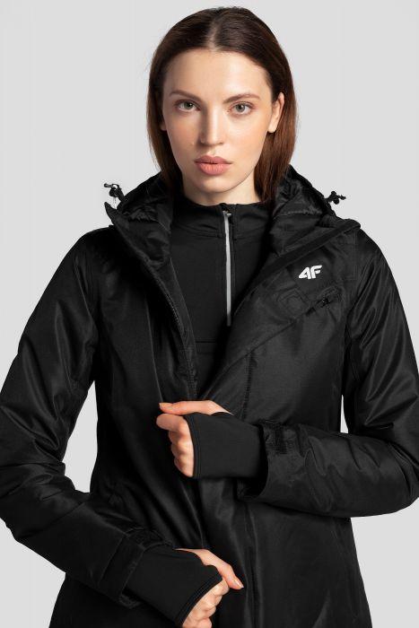 Dámska lyžiarska bunda KUDN253 – čierna 746438bad7a