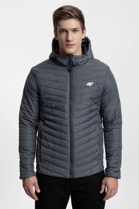 Pánska bunda so syntetickou výplňou KUMP301 - antracit 12a8e2a9d71