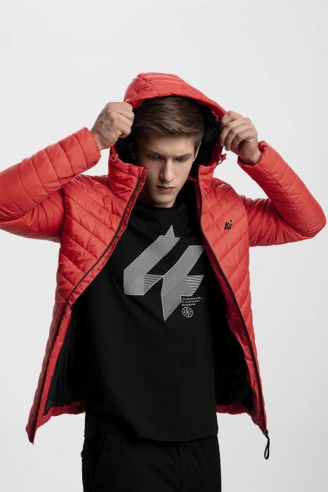 Pánska bunda so syntetickou výplňou KUMP301 - červená f261ddc8374