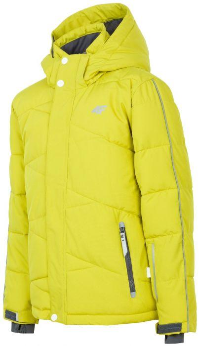Lyžiarska bunda pre staršie deti (chlapcov) JKUMN400 – zelená 38820bf556d
