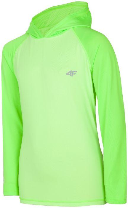 92418110c704 Športové tričko s dlhým rukávom pre staršie deti (chlapcov) JTSML401 -  neónová zelená