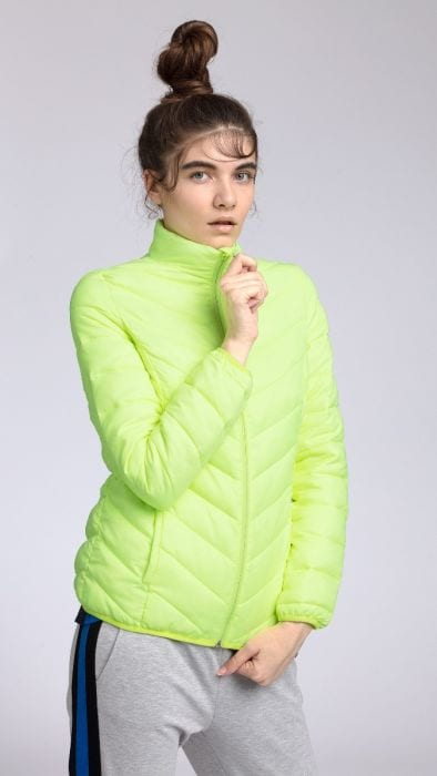 Dámska bunda so syntetickou výplňou kud002 - žltý neón 827b2304fc8