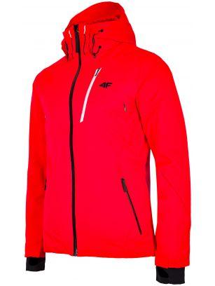 Pánska lyžiarska bunda KUMN257 - neónová červená