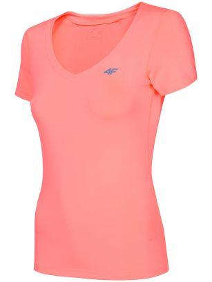 Dámske tréningové tričko TSDF300 - neónová lososová