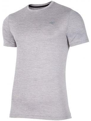 Pánske tréningové tričko TSMF301 - svetlošedá melanž
