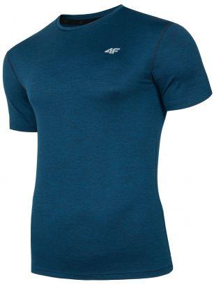 Pánske tréningové tričko TSMF301 - tmavomodrá melanž