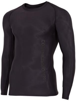 Pánske kompresné tričko s dlhým rukávom 4FPro TSMLF400A – čierna