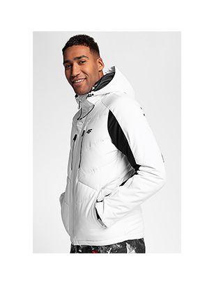 Pánska lyžiarska bunda KUMN256 – biela