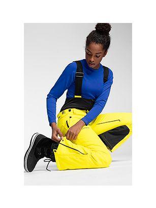 Dámske lyžiarske nohavice SPDN102A – žltá